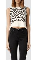AllSaints Tigre Cropped Tee - Lyst