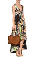 Etro Silk Midi Dress - Lyst