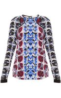 Peter Pilotto Lyo Ls Printed Blouse - Lyst