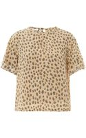 Equipment Logan Cheetahprint Silk Blouse - Lyst