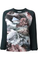 Carven Waterfall Print Sweatshirt - Lyst