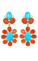 Bounkit Carnelian Turquoise and Clear Quartz Earrings - Lyst