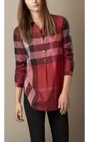 Burberry Check Cotton Tunic - Lyst