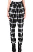 McQ by Alexander McQueen Pleated-front Tartan Wool Trousers Adult Size 8 Rupert - Lyst