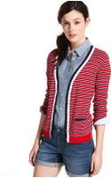 Tommy Hilfiger Longsleeve Striped Colorblocked Cardigan - Lyst