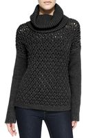 Alice + Olivia Chunky Dropshoulder Turtleneck Sweater - Lyst