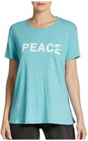 Textile Elizabeth And James Bowery Peace Tee - Lyst
