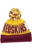 New Era Washington Redskins Rep Your Team Pom Knit Hat - Lyst