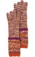 Missoni Knit Midlength Mélange Gloves - Lyst