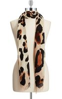Vince Camuto Cheetah Scarf - Lyst