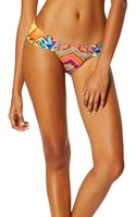 Mara Hoffman Ruched Side Bikini Bottom - Lyst