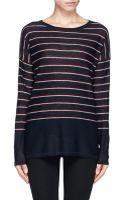 Vince Stripe Wool-cashmere Sweater - Lyst