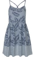 Topshop Moto Tropical Print Dress - Lyst