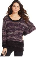 DKNY Long-sleeve Marled-knit Sweater - Lyst