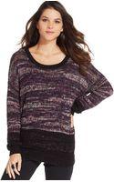 DKNY Long-sleeve Marled-knit Sweater - Lyst