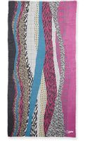 Diane Von Furstenberg Textured Collage Hanover Modal Scarf - Lyst