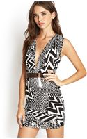 Forever 21 Abstract Vneck Dress - Lyst