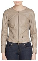 Peserico Perforated Leather Jacket - Lyst