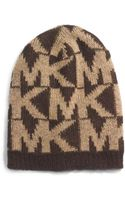 Michael Kors Knitted Logo Hat - Lyst