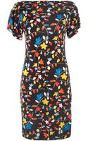 Love Moschino Short Sleeve Floral Dress - Lyst