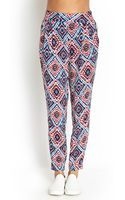 Forever 21 Tribal Print Pleated Pants - Lyst