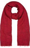 Etoile Isabel Marant Red Gauze Ghazo Scarf - Lyst