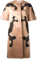 Dolce & Gabbana Lace Detail Short Sleeve Coat - Lyst