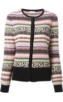 RED Valentino Pattern Knit Cardigan - Lyst