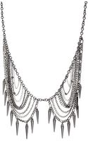 French connection Mixed Plate Chain and Spike Collar Necklace - Lyst