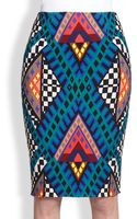 Mara Hoffman Printed Stretch Jersey Pencil Skirt - Lyst