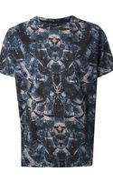 Marcelo Burlon Holographic Snake Print T-shirt - Lyst
