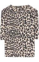 Etro Silk Leopard Print Top - Lyst