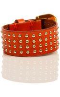 Linea Pelle Studded Buckle Bracelet - Lyst
