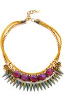 Elizabeth Cole Mexican Opal Bib Necklace - Lyst