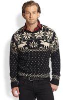 Polo Ralph Lauren Reindeer Crewneck Sweater - Lyst