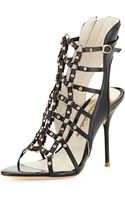 Sophia Webster Brandy Highheel Gladiator Sandal Blackrose Gold - Lyst