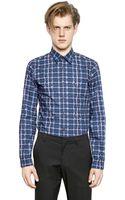 Kenzo Checked Cotton Poplin Shirt - Lyst