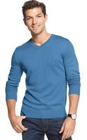 Tommy Hilfiger American Vneck Sweater - Lyst