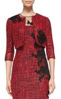 Rickie Freeman for Teri Jon 34sleeve Cropped Tweed Jacket - Lyst