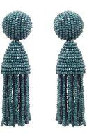 Oscar de la Renta Short Classic Tassel Earring - Lyst