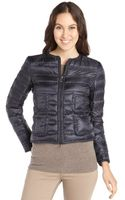 Moncler Navy Box Quilted Lissy Down Filled Jacket - Lyst