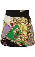 Fausto Puglisi Embellished Multicolor Mini Skirt - Lyst