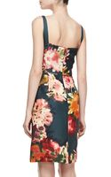 J. Mendel Strapless Floralprint Silk Dress - Lyst
