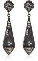 M.c.l Black Crystal Drop Earrings - Lyst