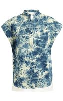 3.1 Phillip Lim Bleached Denim and Cotton Top - Lyst