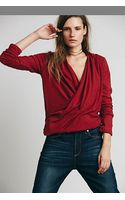 Free People Ease Up Wrap Top - Lyst