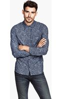 H&M Paisley Shirt - Lyst