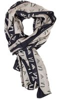 Armani Jeans Scarf Wool Logo All Over - Lyst