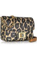 Juicy Couture Laurel Leopard Coated Canvas Mini G Crossbody Bag - Lyst