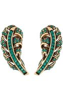 Oscar de la Renta Feather Earring - Lyst